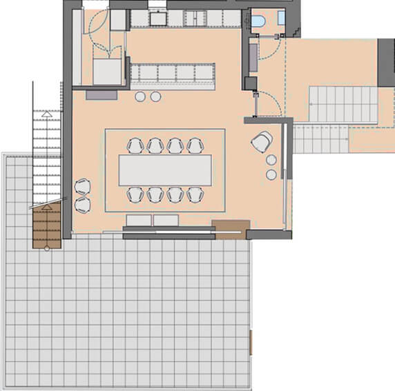 Villa Les Terrasses - Kitchen / Dining Plan